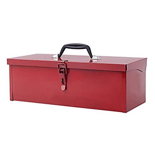 Werkzeugkiste Aus Metall,Montage Werkzeugkasten Mit Verriegelungsdeckel,Werkzeugbox Zur Aufbewahrung Von Werkzeugen Oder Kunsthandwerk,38×15×13CM