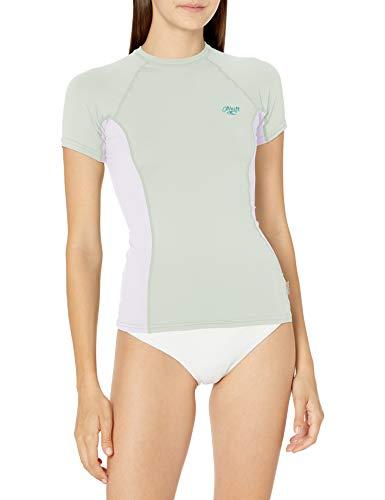 O\'Neill Damen Premium Skins UPF 50+ Short Sleeve Rash Guard, Fresh Mint/Weiß/Fresh Mint, L