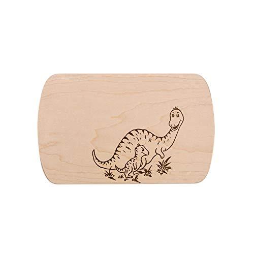 Brink Holzspielzeug Frühstücksbrettchen Frühstücksbrett Dinos mit kostenloser Gravur Vesper Holz Namen Brett neu Dinosaurier