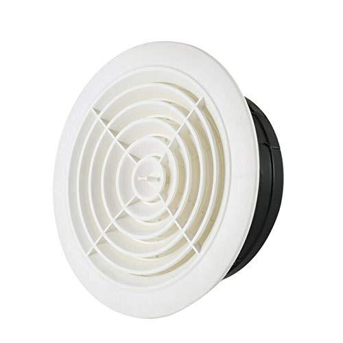 Zarejestruj się Regulowany odpowietrznik Okrągły otwór wentylacyjny ścienny, ABS, żaluzja Biała osłona kratki do łazienki Kuchnia biurowa, sufit wentylacyjny lub ściana boczna (kolor: 5 cali)