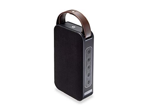 Conceptronic BRONE01B 10 W Altavoz portátil estéreo Negro, Bronce - Altavoces portátiles (10 W, 80-20000 Hz, 80 dB, 0,1%, Inalámbrico y alámbrico, Altavoz portátil estéreo)