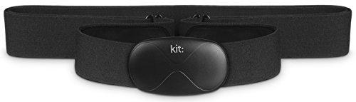 Kit KTTHRMBK - Kit de monitor de ritmo cardiaco compatible con dispositivos iOS y Android, negro