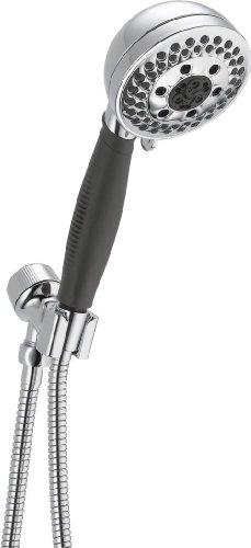 Delta Faucet 5-Spray H2Okinetic Hand Held Shower Head, Chrome 54445-PK
