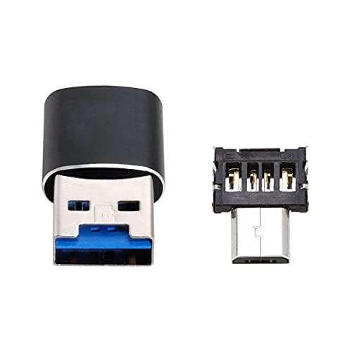 Cablecc USB 3.0 a Micro SD SDXC TF lector de tarjetas con micro USB 5pin OTG adaptador para tableta/teléfono celular