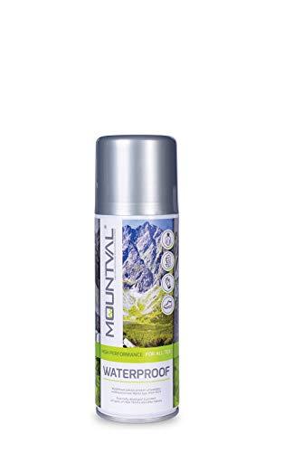 Mountval Spray Impermeabilizante Repelente al Agua contra la Humedad y la Suciedad para Equipamiento de Exterior, Waterproof (400 ml - 13.52 FL. Oz.)