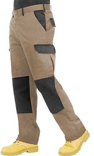 ProLuxe Endurance Herren-Cargo-Arbeitshose mit Kniepolstertaschen und verstärkten Nähte