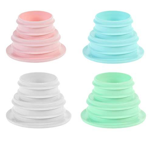 TOPBATHY 4 piezas de agua trampa protectora desodorante Canalización Manguera Manguera Silicona Conector para cuarto de baño baño lavandería cocina azul rosa verde blanco