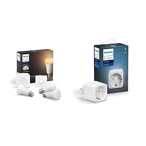Philips Lighting Hue White Ambiance Starter Kit con 3 Lampadine + Presa Intelligent