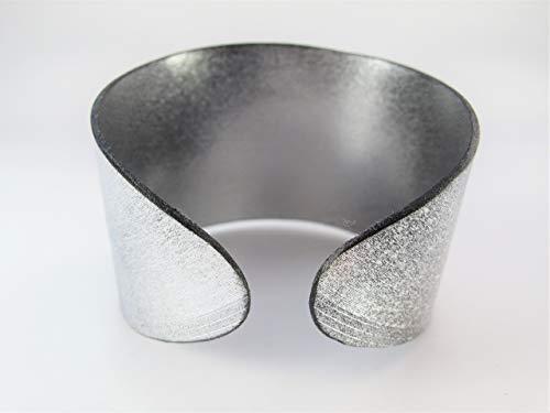 Armreif aus Schallplatte - silber // 3 Größen