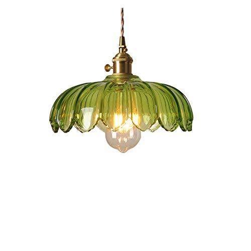 YAN FEI Accesorio de iluminación Lámpara de Cristal Nordic Modern Modern Minimalista Lámpara de Cobre Puro Transparente Luces Colgantes Verdes Lámparas Colgantes Ajustables Ajustables Lámpara