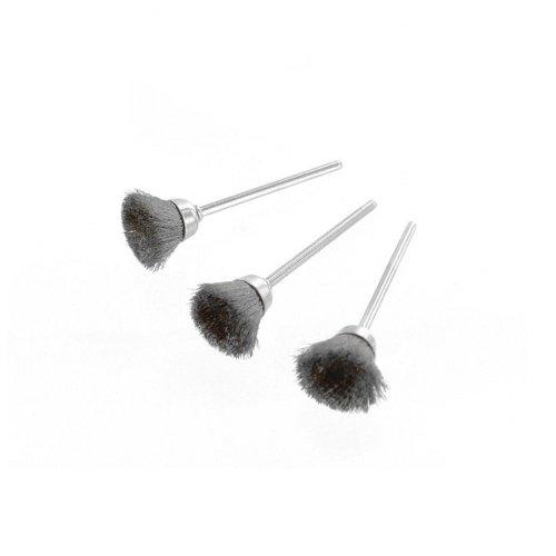 Rotacraft socle en acier brosses, Lot de 3, Argent