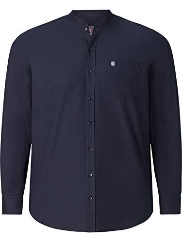 Jan Vanderstorm Herren Langarm Stehkragenhemd Kallu (Businesshemd, Langarmhemd) dunkelblau XL - 43/44