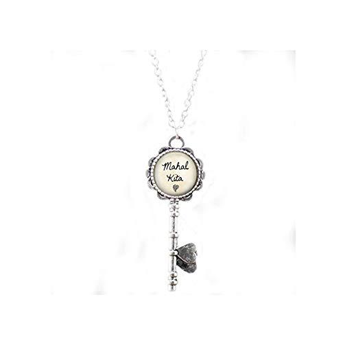 Mahal Kita Key Necklace - I Love You - Tagalog Philippines Key Necklace - Mahal Kita Key Necklace - Filipino Quote - Pinoy Gift - Pinay Gift