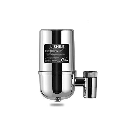 Osairous Filtro de Agua del Grifo, Grifos Purificador de Agua para el hogar o la Cocina, Material Stainless Steel Adapta a grifos estándar (Filtro de Agua del Grifo)