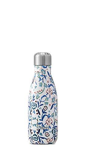 S'well Botella de agua de acero inoxidable aislada al vacío S'well Botella de agua de acero inoxidable con aislamiento al vacío, 260 ml, azul aciano 260ml Cornflower azul