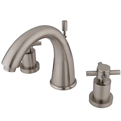 Kingston Brass KS2968DX Concord Widespread Lavatory Faucet, 7-Inch Spout Reach, Brushed Nickel