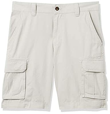 Amazon Essentials Men's Classic-Fit Cargo Short, Silver, 33