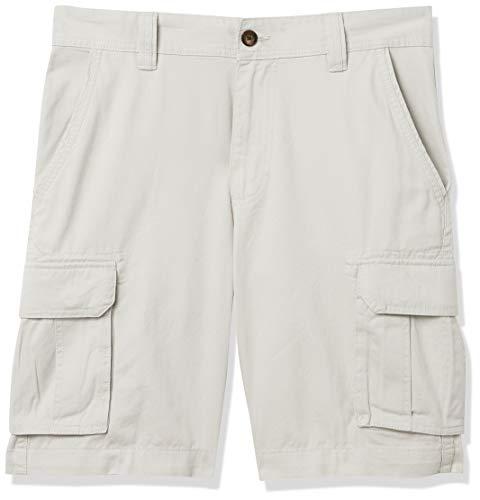 Amazon Essentials Classic-Fit Cargo Short Pantaloncini, Argento, 33W