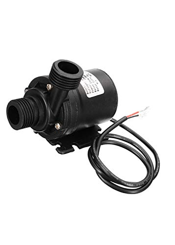 """GENEDEY DC 12V 1/2"""" Brushless Magnetic Drive Centrifugal Submersible Water Oil Pump Ultra Quiet 800L/H 5M/16ft for Fish Tank Fountain Pool Pond Aquarium Solar Circulation System Water Circulation Syst"""