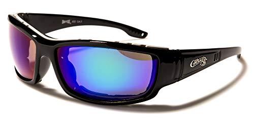 Choppers Gafas de sol para motocicleta, antivaho, West Coast Negro, azul y verde 8c932. M