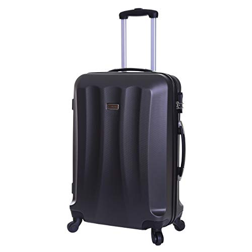 Slimbridge Hard Medium Large Suitcase Luggage Bag ABS Shell 67 cm 3.2 kg 55 litres with 4 Wheels and Integrated Number Lock, Lydde (67 cm, Graphite)