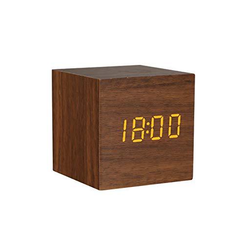 shenlanyu Despertador Mesa de Madera Control de Voz Digital Powered Electronic Desktop 1