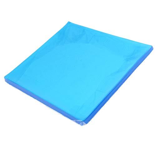 Baosity Motorcycle Seat Gel Pad Blue Shock Absorption Mats Cushion Seating 25x22x1cm