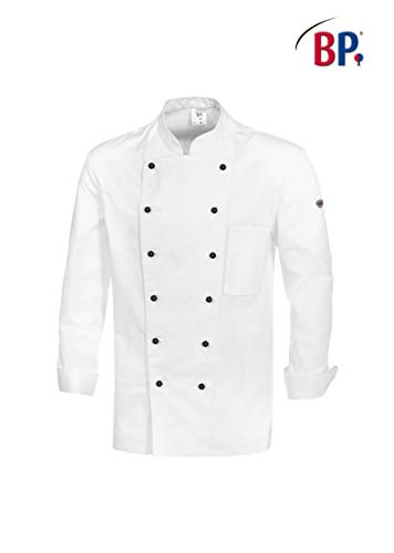 BP 1500-130-21-64 - Giacca da cuoco con maniche a 1/1, 205,00 g/m², in puro cotone, colore: bianco, 64