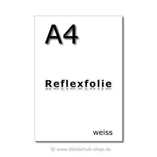 Orafol Reflexfolie A4, weiss, reflektierend, selbstklebend