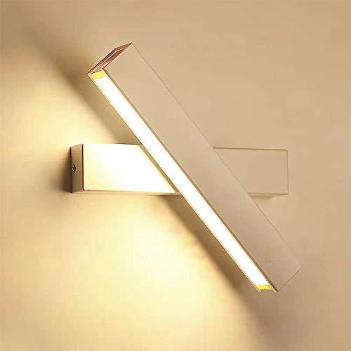 Wandleuchte LED Innen Wandlampe Warmweiß 12W Modern Wandbeleuchtung Eisen Wandlicht fast 360° Drehbare Eisen Wandlicht Wandleuchten für Schlafzimmer,Badezimmer,Wohnzimmer (Weiß)