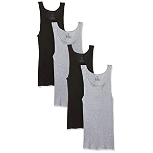 Hanes Men's Ultimate Comfortsoft Dyed Tank Undershirt (4-Pack)