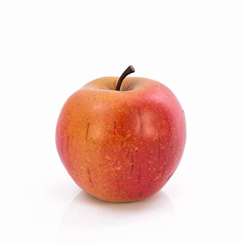 artplants.de Deko Apfel, orange - rot, 8cm, Ø 8cm - Plastik Obst - Künstliches Obst