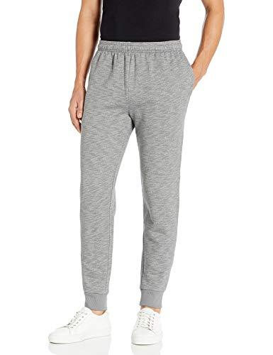 Amazon Essentials Fleece Jogger Pant Pantaloni, Light Grey Space-Dye, M