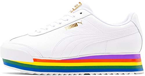 PUMA Women's Roma Amor Rainbow Sneaker, White White, 7.5