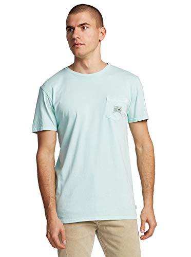 Quiksilver Sub Mission-T-Shirt avec Poche pour Homme, Beach Glass, FR : 2XL (Taille Fabricant : XXL)