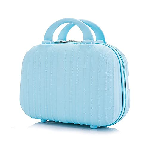 PTMO Women's Cosmetic Bag Portable Cosmetic Case Professional Cosmetology Makeup Organizer Travel Storage Box Suitcases Direct Delive (Color: sky blue, Size: 31X24X14.5cm)
