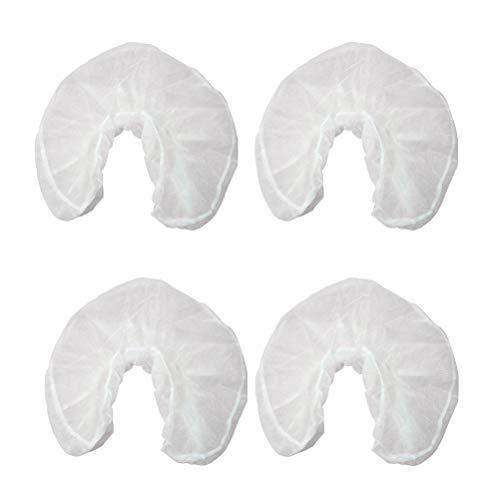 Healifty 50 stücke Einweg Kopfstützenbezüge Massage Gesicht Rest Abdeckungen vliesstoffe U Geformte Kissenbezug für Hotel Reise (Weiß)