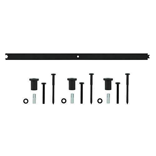 INTERSTEEL - Zwischenschiene Mattschwarz - Verlängerung für Schiebetüren, Innentüren und Wandschränke - 90 cm