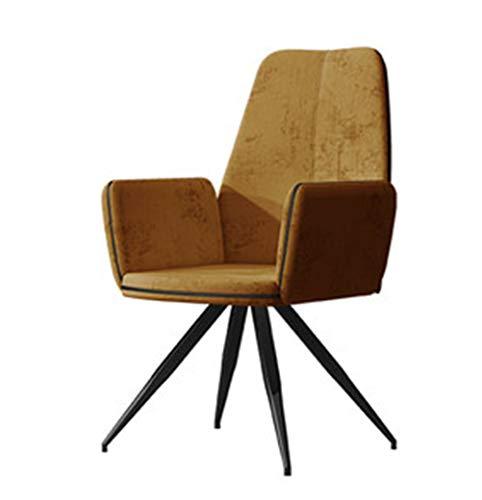 OLLTT Nordic Simple Single Chair, moderner, seitlich lässiger, gepolsterter Mittelalterstuhl, ergonomische Rückenlehne, Sitzlehne Esszimmerstühle Barhöhe Esszimmer Wohnzimmer Küche Pub Bistro-Stühl