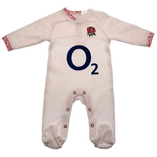 England RFU 2019/20 Grenouillère pour bébé Blanc Taille 6-9 mois