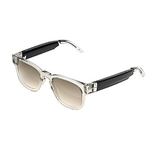 FAUNA Bluetooth Sonnenbrille - Unisex Designer Brille mit Audio-Funktion - Spiro Transparent Brow