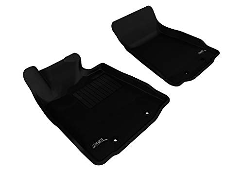 3D MAXpider Front Row Custom Fit All-Weather Floor Mat for Select Nissan 370Z Models - Kagu Rubber (Black)