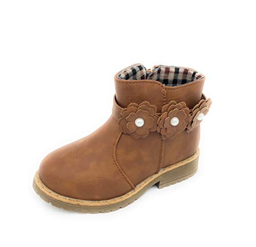 SOLE COLLECTION MYTH21 Girls/Toddlers Fashion Cute Winter Snow Boots Shoes,TAN-WARM01,Size 5