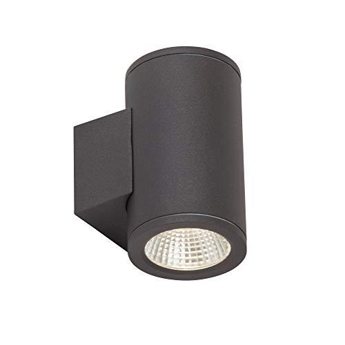 AEG ARGO LED Wandleuchte Lotuseffekt Ø 8 cm Anthrazit 2-Flammig