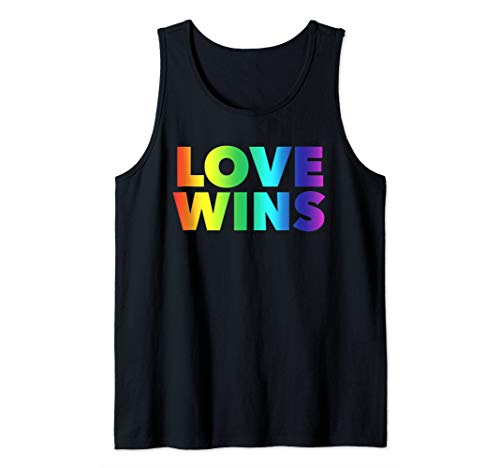 Love Wins CSD LGBT Gay Trans Regenbogen-Fahne Tank Top