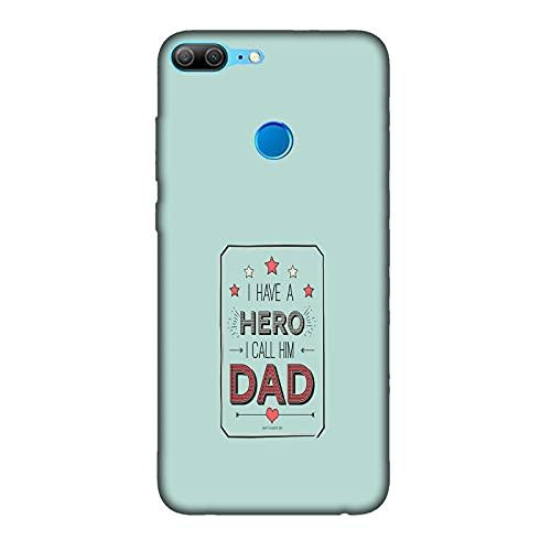 Funda 9 Lite Carcasa Compatible con Honor 9 Lite Frases dedicadas a papá Mi Padre héroe/TPU Suave Gel de Silicona/Teléfono Hard Snap en Antideslizante Antideslizante Anti-rasguño Resistente a