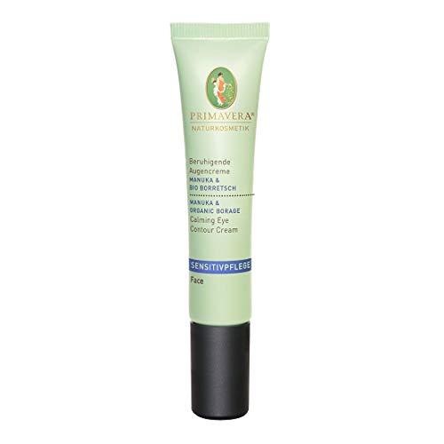 PRIMAVERA Sensitivpflege Beruhigende Augencreme Manuka Borretsch 15 ml - Naturkosmetik - glättend, beruhigend, feuchtigkeitsspendend, für sensible Haut - vegan