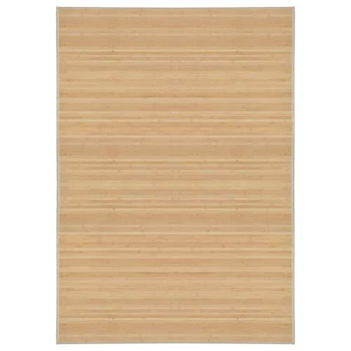 vidaXL Teppich Bambus 120x180cm Wohnzimmer Läufer Bambusteppich Bambusmatte