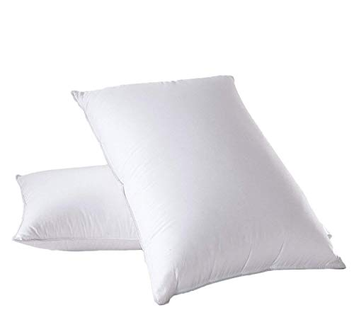 Royal Hotel's Down Pillow - 500 Thread Count Cotton Shell, Standard / Queen Size, Firm, 1 Single...