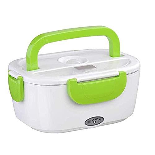Auto 12V 220V elektrische Lunchbox mit abnehmbarer Schüssel und Löffel für Auto Camping Budget Edelstahl die Art und Weise Lebensmittelwärmer Elektrische 1,5L Thermal Lunch Container Warmhalter Box